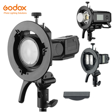 Godox S2 Bowens montage Flash s type support support pour Godox V1 V860II AD200 AD400PRO TT600 Speedlite Flash Snoot Softbox grille
