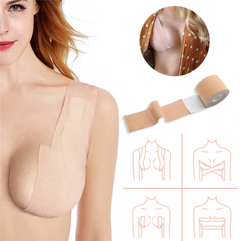 Dropshipping 5M Body Invisible Bra Women Boob Tape Nipple Cover DIY Breast Lift Tape Push Up Sticky Bra Lift Up Boob Tape 1 Roll 2