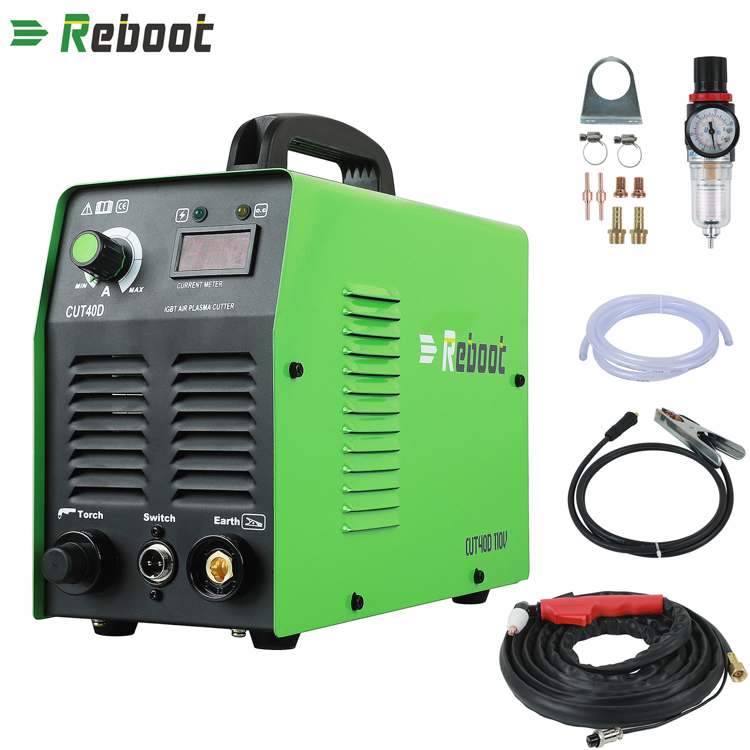 Reboot  220V/110V Air Plasma Cutter CUT 40 Plasma Welders Cutting Machine With Torch Accessories R Cut All Steel EU/US Plug