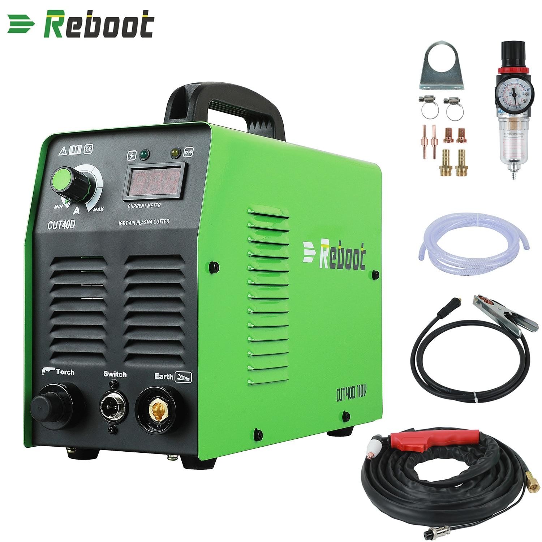Reboot  220V/110V Air Plasma Cutter CUT 40 Plasma Welders Cutting Machine With Torch Accessories R Cut All Steel EU/US Plug