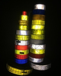 5cm*50m High Visibility Fluorescent Flashing Small Square Warning Safety Reflective PVC Tape Sewing For Clothing