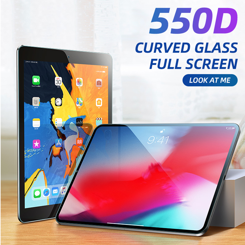 550D Curved Screen Protector For IPad Pro 11 10.5 Tempered Glass For IPad 9.7 2019 2017 2018 9.7 Air 1 2 3 Mini 4 5 2 3 4 Film