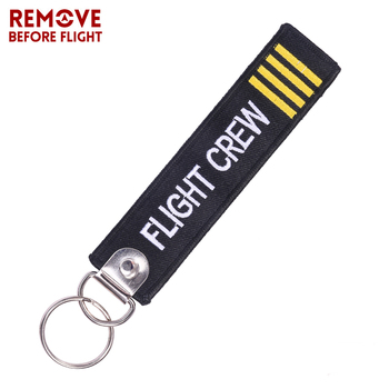 Flight Crew Keychain for Aviation Gift Fashion Travel Luggage&bags Accessories Luggage Bag Tag Label Flight Crew Key Chain luggage bagage tag label remove before flight key chain follow me travel accessories embroidery tag flight crew aviation gift