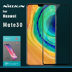 Dla Huawei Mate 30 szkło Nillkin CP + PRO pełna pokrywa szkło hartowane ochraniacz ekranu dla Huawei Mate 30 Nillkin szkło