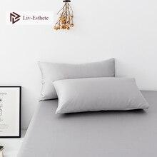 Liv-Esthete Gray 100% Nature Stranded Mulberry Satin Silk Pillowcase Wholesale Silky Healthy Pillow Case For Women Men Kids