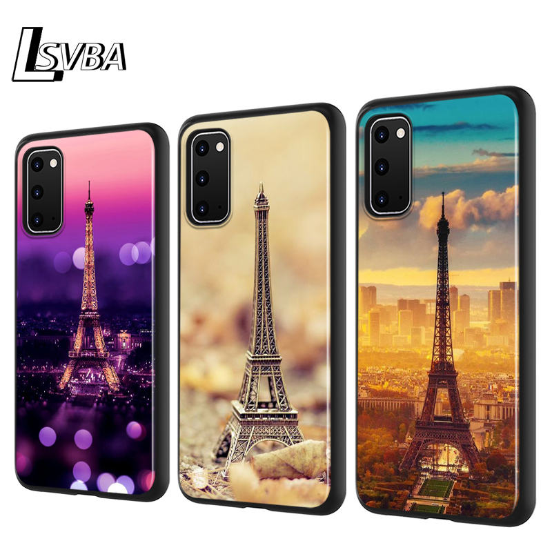 Eiffel Tower Paris Silicone Phone Cover For Samsung Galaxy S20 Ultra Plus A01 A11 A21 A31 A41 A51 A71 A91 Phone Case