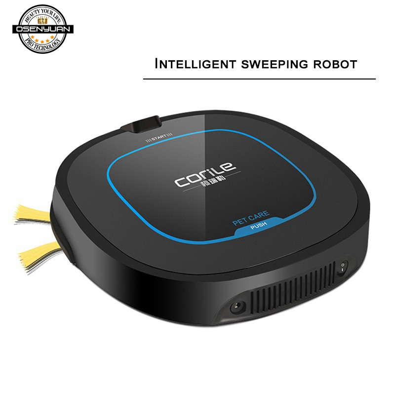 2019New Robot Vacuum Cleaner for Home Sweeping Wet Mopping Robotic Carpet Dust Collector Smart Automatic in Vacuum Cleaners from Home Appliances