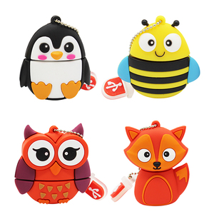 Image 1 - TEXT ME 64GB cute cartoon Penguin owl fox style usb flash drive usb 2.0 4GB 8GB 16GB 32GB vreative pendrive gift