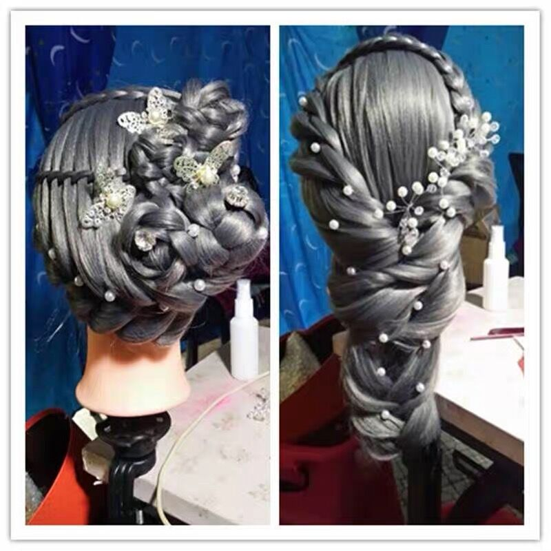 Free Shipping Mannequin Dummy Manequin Cosmetology Mannequin Heads 22 quot 20 Human Hair Training Mannequin Head With Holder in Mannequins from Home amp Garden
