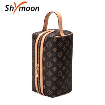 SHYMOON 2020 New Style Luxury brand design Women Handbags vintage Female high quality Women Makeup Bag Hanging Bathroom Wash Bag