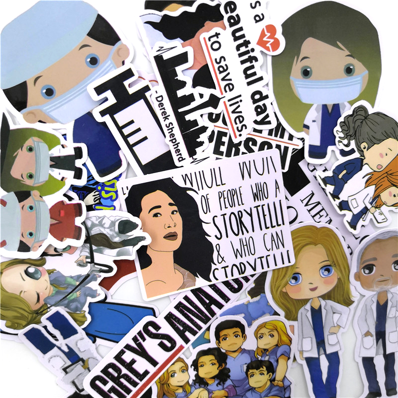 21Pcs Doctor Nurse Stickers For Motorcycle Laptop Skateboard Luggage Bags Accessories Notebook Car Decor Waterproof Sticker