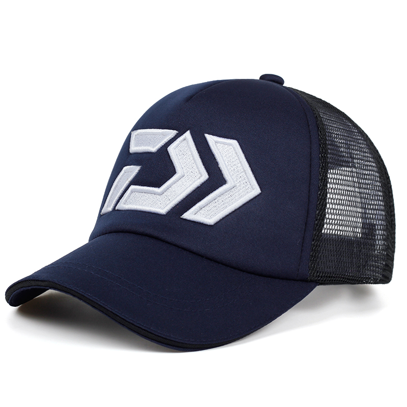 New Summer Sun Cap Breathable Wicking Mesh Visor Ventilation Adjustable Sun Hat Daiwa Male 2018 Outdoor Fishing Brand Cap