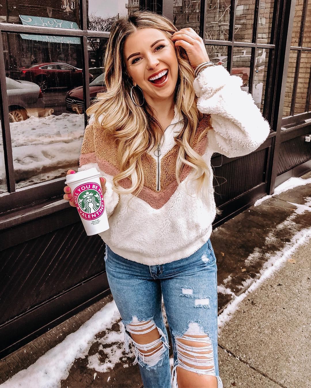 Hb6d9f05b132545fbbb2dc36cc787f1dfz New Style Women Warm Teddy Bear Fleece Pullover Coat Zip Outwear Overcoat Long Sleeve Jumper Top Pullover Winter Warm Soft Coat