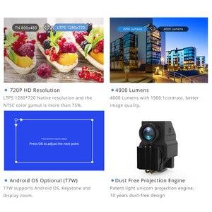 Image 2 - TouYinger T7 T7K T7W HD домашний светодиодный проектор Bluetooth, 1280x720 Поддержка Full HD видео LED USB проектор для кино, 4000 люмен Android опционально