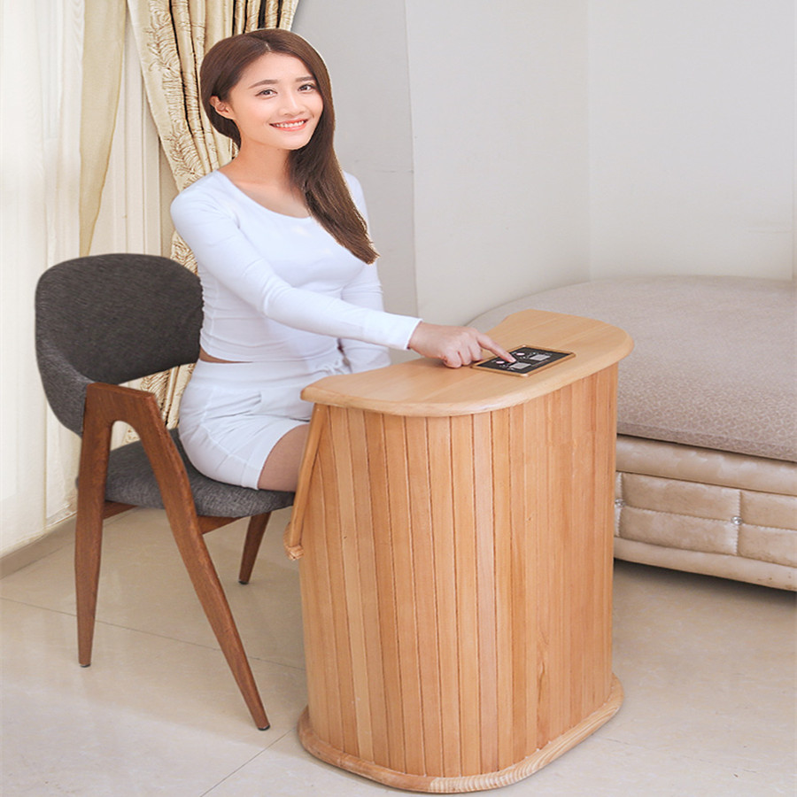 Far Infrared Foot Sauna Luxury With Massage Solid Wood Bubble Barrel Personal Care Appliances SPA Home