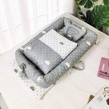 Infant Cotton Cradle Crib Newborn Basket Bassinet Newborn Bed Portable Baby Nest for Boys Girls Travel Cot Cushion