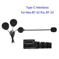 Fodsports BT S2 헬멧 인터폰 헤드셋 이어폰 유형 c 인터페이스 motocycle 무선 블루투스 헬멧 인터폰 하드 소프트 마이크|헬멧 헤드셋|자동차 및 오토바이 -