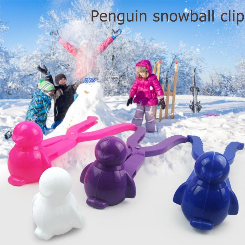 Creative Plastic 3D Snowman Snowball Maker Mold Clip Kids Winter Outdoor Sports Snow Sand Making Mould Funny Toys Tool