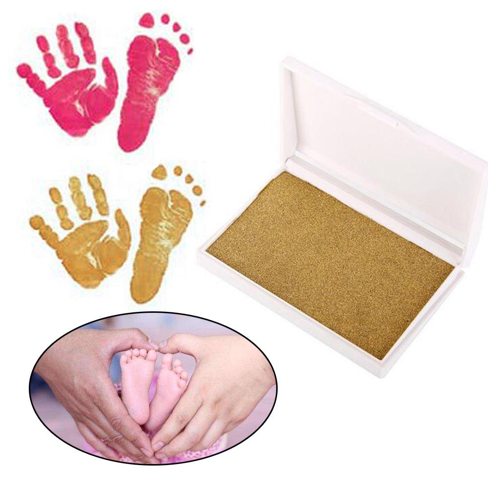 Baby Handprint Footprint Hand Footprint Makers Non-Toxic Newborn Imprint Hand Inkpad Watermark Souvenirs Casting Clay Footprint