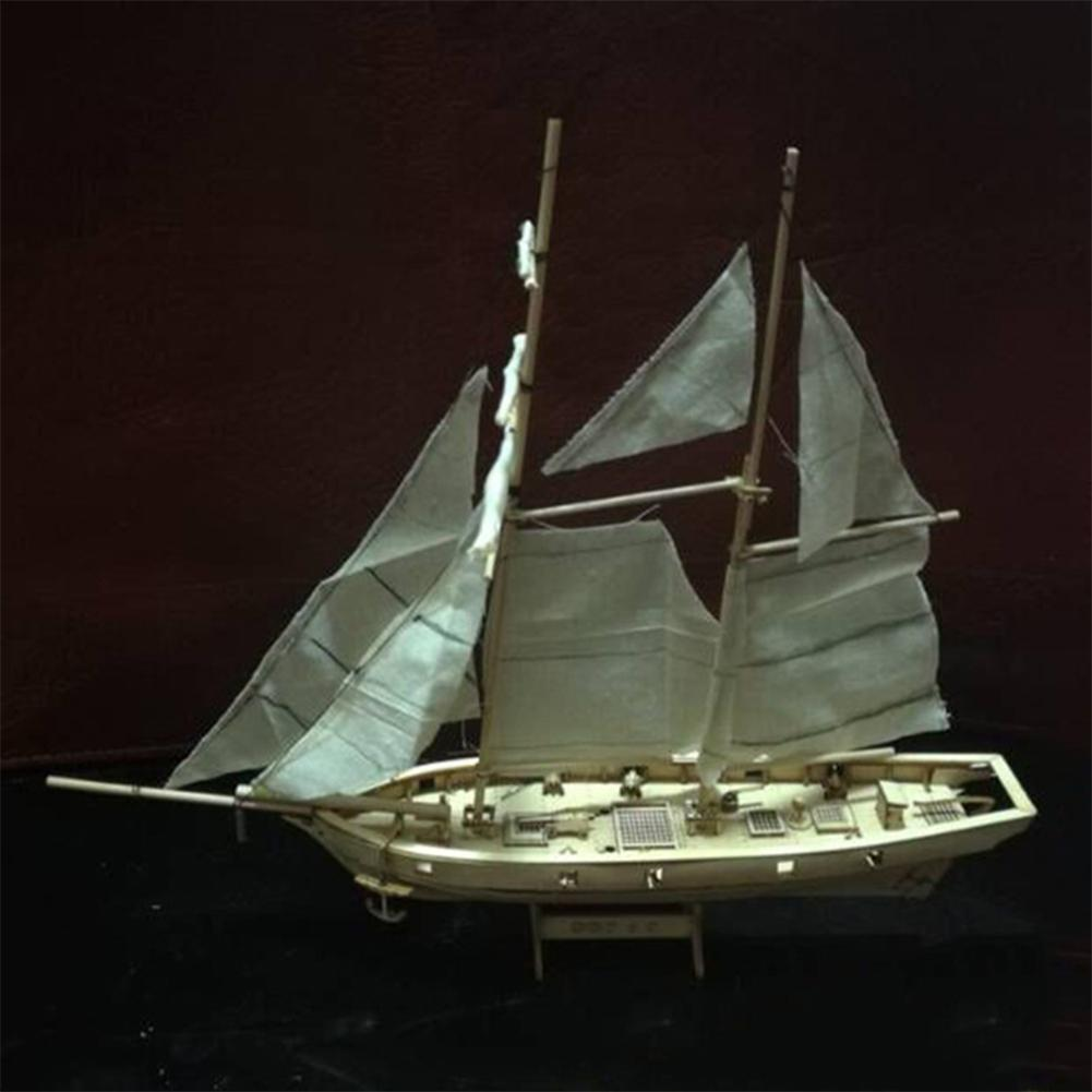 None 1:100 Scale Wooden Wood Sailboat Ship Kits Home DIY Model Home Decoration Boat Gift Toy For Kids