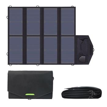 цена на 40W Solar Panel Foldable SunPower Solar Charger with 5V & 18V Output for Laptops Tablets Smartphone and 12V Car Boat RV Battery