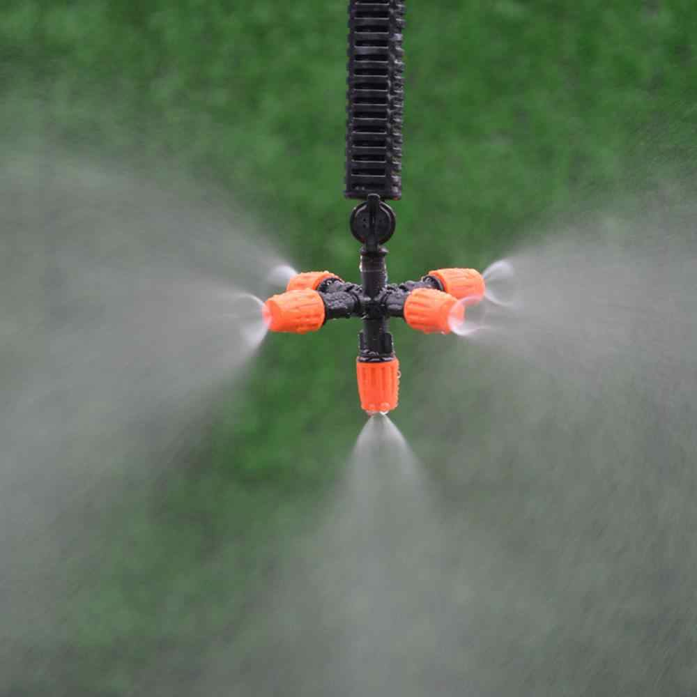1/2/5/10 Buah Pemancar Tetes 5 Kepala Taman Spray Nozzle Rumah Kaca Sprinkler Otomatis Adaptor air Sistem Irigasi Tetes