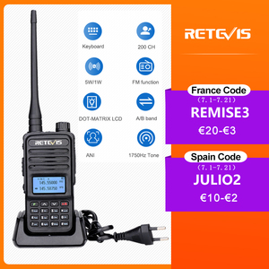 Image 1 - Retevis RT85 Walkie Talkie 5W VHF UHF Dual Band VFO Amateur Two way Ham Radio Station Portable Radio For Hunting Support CHIRP