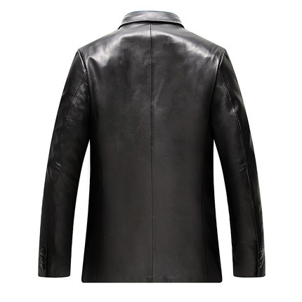 New 2020 Autumn Men Leather Jacket Genuine Real Sheepskin Jackets Brand Black Male Motorcycle Biker Overcoat Tops LX2163