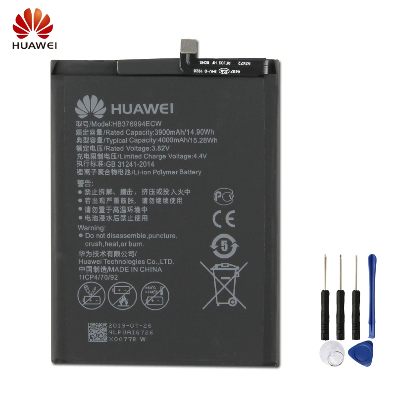 HuaWei Original HB376994ECW Battery For Huawei Honor V9 8 pro DUK-TL30 DUK-AL20 Genuine Replacement Phone 4000mAh