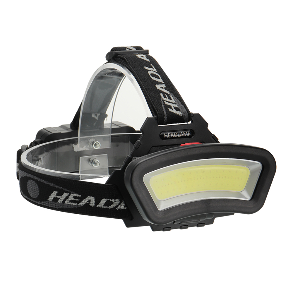 White Red COB <font><b>LED</b></font> Headlight Headlamp Front <font><b>Light</b></font> 1000LM 4 Modes USB <font><b>Rechargeable</b></font> Flashlight Torch Lamp for Outdoor Fishing Camp image