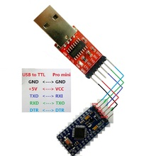 TB196 DTR USB адаптер Pro Mini Скачать кабель USB к RS232 ttl последовательные порты CH340 заменить FT232 CP2102 PL2303 UART