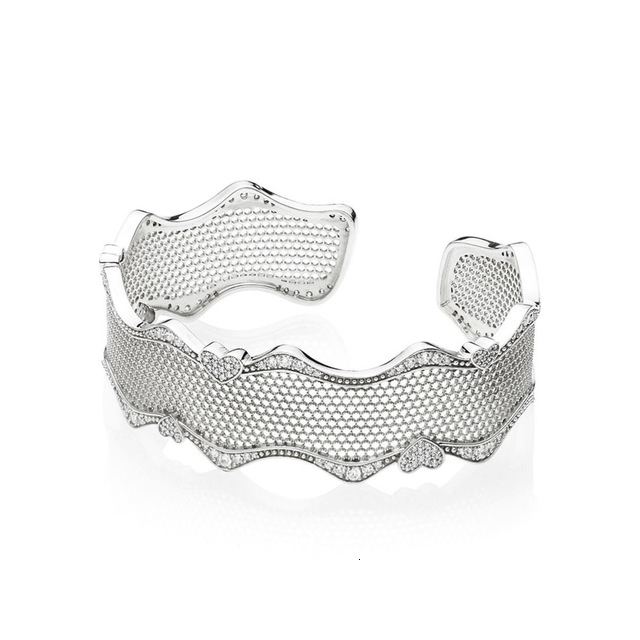 The Latest 100% 925 silver sterling new 597704cz love ribbon original female bracelet charm gift jewellery straight from the factory