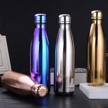500 мл модная бутылка для воды из нержавеющей стали Детская школьная термоизолированная вакуумная колба горячая/холодная герметичная рождественские подарки
