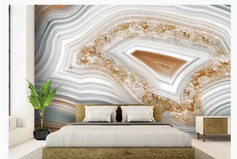 Modern Marble Wallpaper 3D Photo Wallpaper For Walls Silk Waterproof Bathroom Kitchen Wall Paper Home Decor