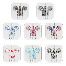 Wired Earbuds China-Style Floral-printed Stereo Music Earphones Drive-by-wire Headphones