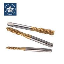 HSSE With TIN Fine Thread Spiral Fluted tap UNF 8-36 10-32 12-28 UNS 8-40 10-36 12-32 10-48 3/16-32 Machine Screw Thread taps