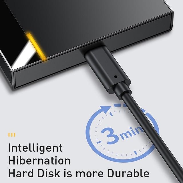 Baseus Caso HDD 2.5 SATA a USB 3.0 Adattatore Hard Disk Caso BOX E ALLOGGIAMENTI PER HDD Per SSD CASO di Tipo C 3.1 HDD box HD Esterno HDD Caddy 5