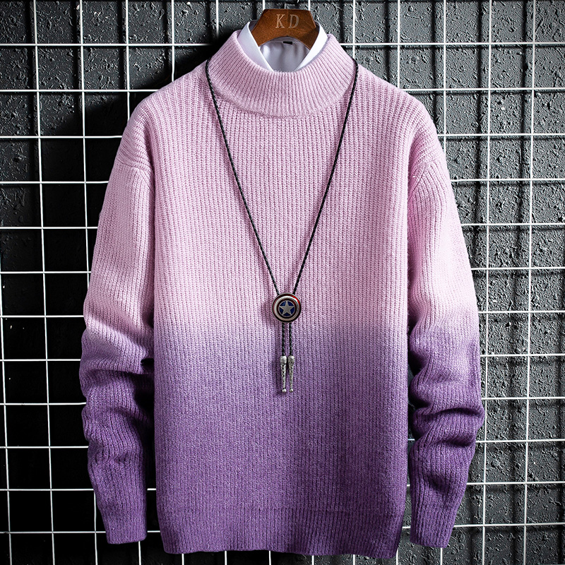 Cashmere Turtleneck Men Thicken Sweater Clothes Winter Jersey Hombre Pull Homme Hiver Pullover Men High-neck Gradient Sweaters