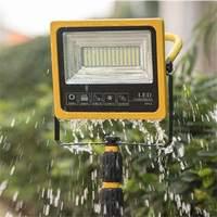 80LEDs Solar Camping Light IP65 Waterproof Floodlight Spotlight Outdoor Remote Adjustment USB Emergency Lantern Powered Bank