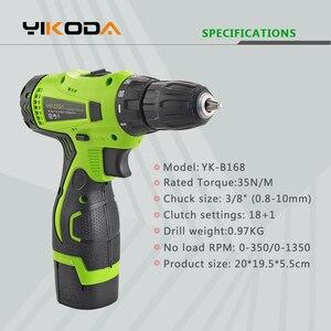 Image 4 - YIKODA destornillador eléctrico de 16,8 V, Taladro Inalámbrico, batería de litio recargable de doble velocidad, Mini controlador, herramientas eléctricas para el hogar