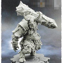 55mm Siege Minotaur, Resin Model figure GK, Fantasy theme, Animal warrior, Unassembled and unpainted kit(China)