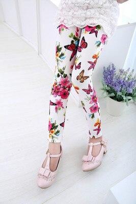 VIDMID Girls Skinny Leggings Candy Color Lace pants Leggins for Baby Girl Kids Children cotton Princess trousers pants 4114 07 2