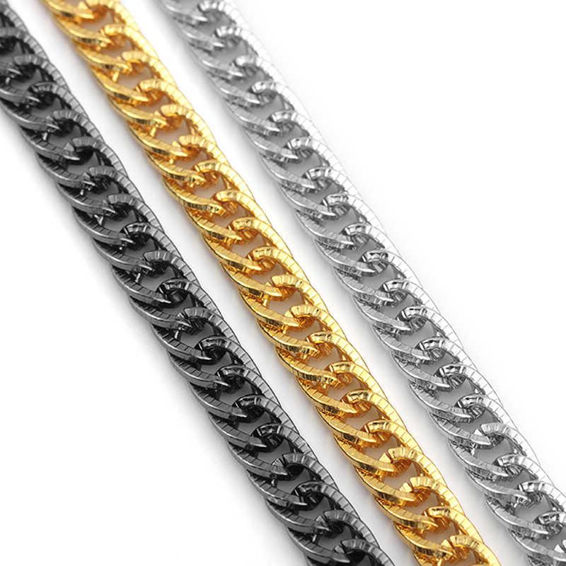 DIY Long Necklace Jewelry Hip Hop Gold Color Twisted Singapore Chain Necklace For Women Men Wholesale