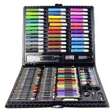 150 шт./компл. рисунок ящик для инструментов с коробкой Картина кисти художественный маркер для воды Цвет ручка Crayon Kids подарок GY88