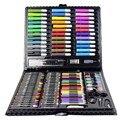 150 шт./компл. набор инструментов для рисования с коробкой кисть для рисования художественный маркер цветная ручка карандаш детский подарок ...