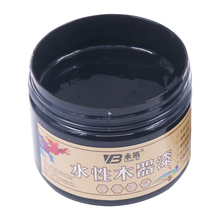 250g Black Water-based Woodwork Paint Water-proof & Mildew-proof Lacquer for Wood,Fabric,Paper,Canvas,Hand-painted