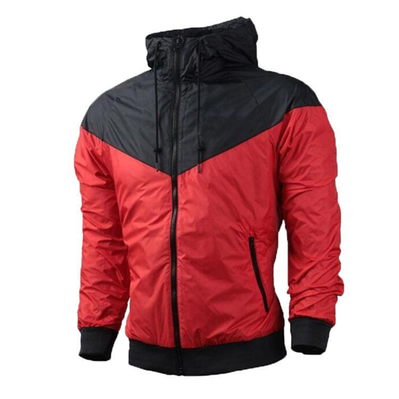 2019 Autumn Fashion Men's Windbreaker Jacket Fitness Running Clothes Student Casual Loose Lapel Hooded Jacket
