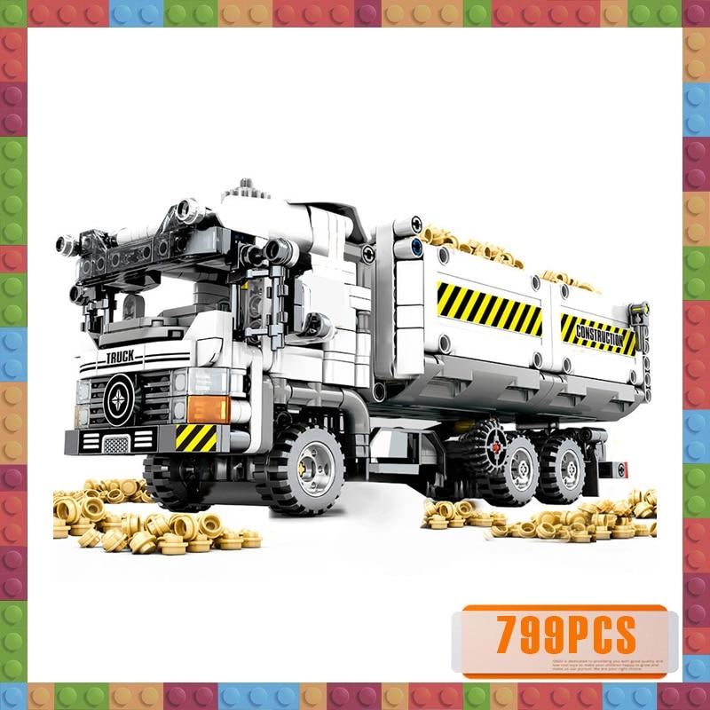 799pcs Technic Engineering Truck Building Blocks Compatible Vehicle Car Bricks Educational DIY Toys for Children Boys