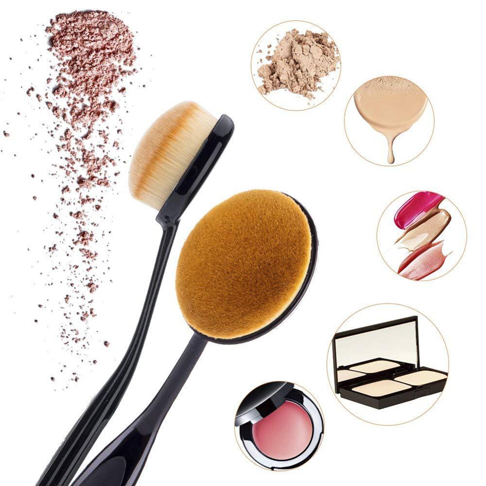 10Pcs/set Professional Makeup Brush Toothbrush Ronshadow Conceler Foundation Blush Women Makeup Brushes With Case Cosmetic Tool