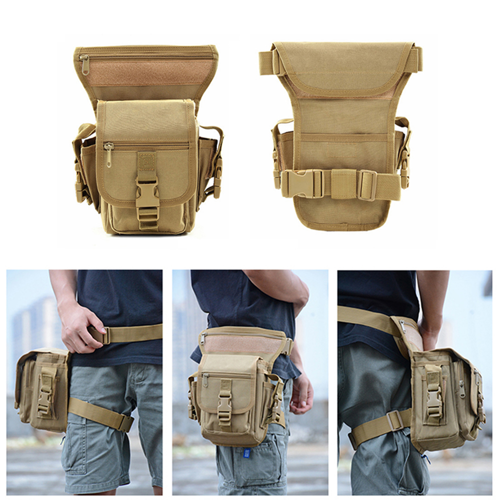 Military Tactical Drop Leg Bag Thigh Hip Pack Hunting Bags Waist Pack Hiking Riding Men 600D Military Fishing Tool Pouch